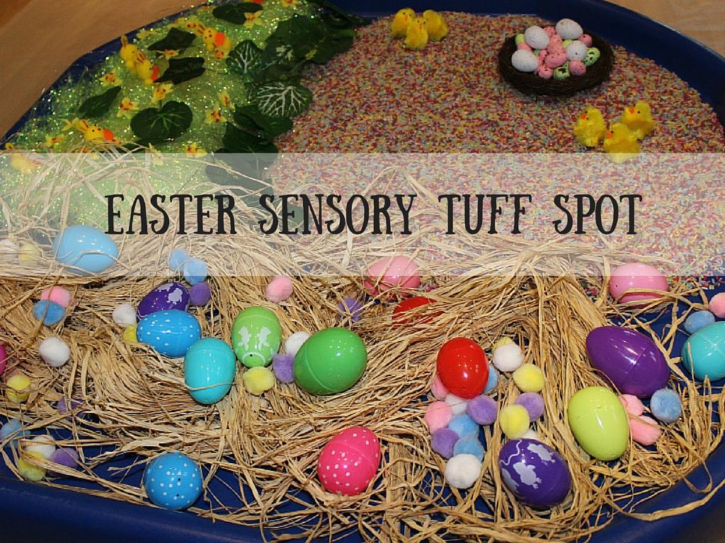Easter Sensory Tuff Spot