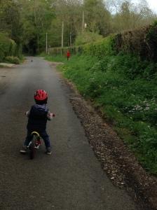 Charlie on bike