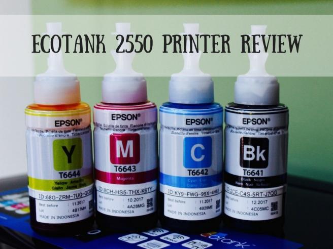 EcoTank 2550 Printer Review